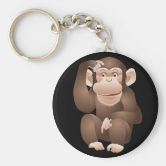 Curious Monkey Keychain