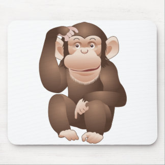 Curious Monkey Mouse Pad