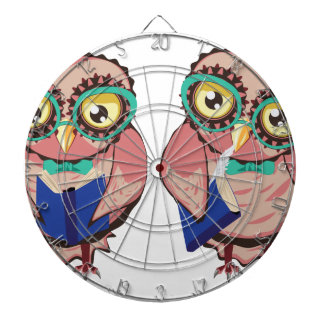 Curious Owl in Teal Glasses2 Dartboard