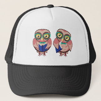 Curious Owl in Teal Glasses2 Trucker Hat