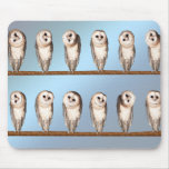 Curious owls mouse pad