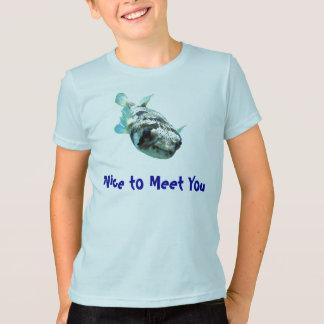 "Curious Porcupine Pufferfish  ""Nice to Meet You"" T-Shirt"