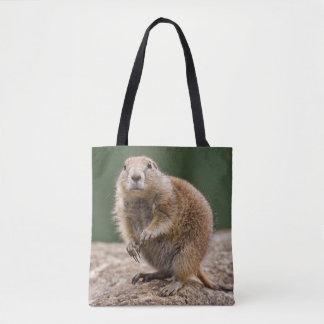 Curious Prairie Dog Tote Bag