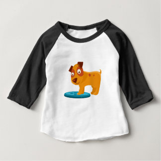 Curious Puppy Stepping On Trapdoor Baby T-Shirt