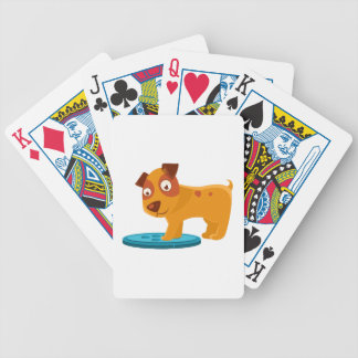 Curious Puppy Stepping On Trapdoor Bicycle Playing Cards