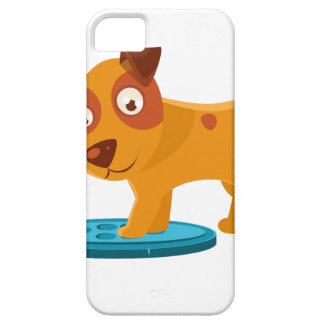 Curious Puppy Stepping On Trapdoor Case For The iPhone 5
