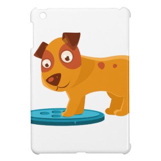 Curious Puppy Stepping On Trapdoor iPad Mini Case