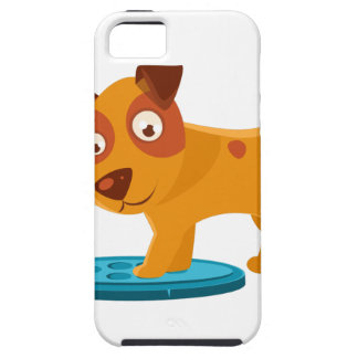 Curious Puppy Stepping On Trapdoor iPhone 5 Cover