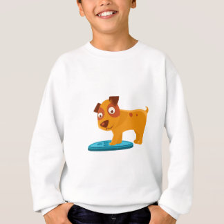 Curious Puppy Stepping On Trapdoor Sweatshirt