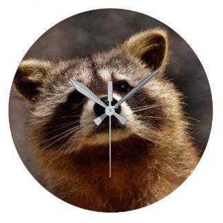 Curious Raccoon Wall Clock