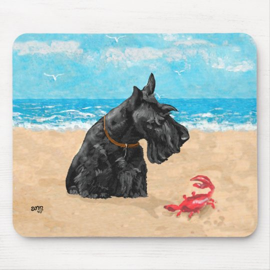 Curious Scottie at the Beach Mouse Pad
