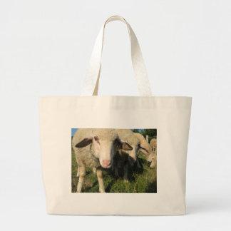 Curious sheep large tote bag