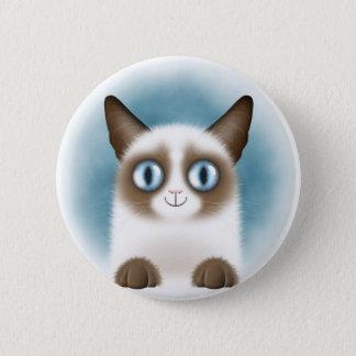 Curious Siamese Kitten 2 Inch Round Button
