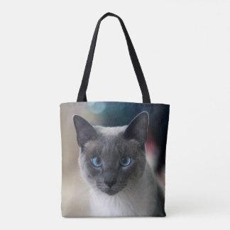 Curious Siamese Tote Bag