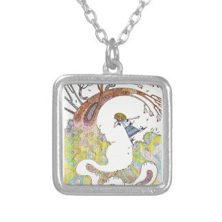 Curious Silver Plated Necklace