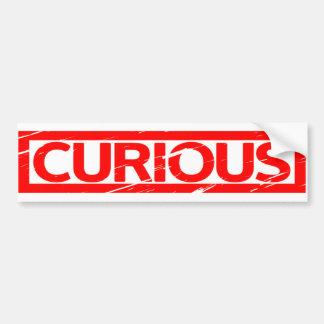 Curious Stamp Bumper Sticker