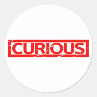Curious Stamp Classic Round Sticker