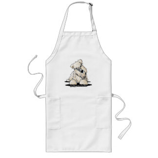 Curious Wheaten Terrier Apron