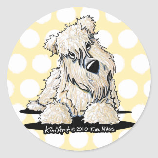 Curious Wheaten Terrier Dotted Stickers