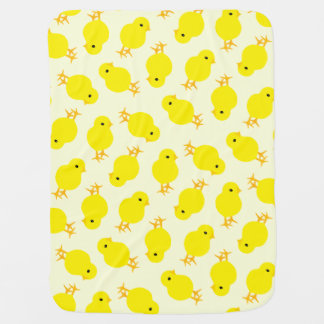 Curious Yellow Chick Baby Blankets