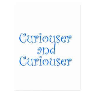 Curiouser & Curiouser in Medium Blue Postcard
