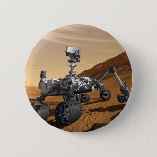 Curiousity Mars Rover, Planetary Space Mission, 2 Inch Round Button