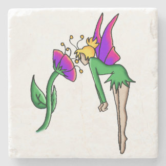 """Curiousity"" Simple Fairy Beverage Coaster"