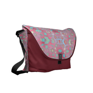 Curiously Colorful Floral Courier Bag