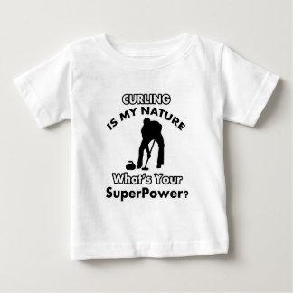 curl design baby T-Shirt