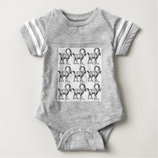 curl horn ibex baby bodysuit