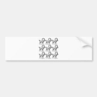 curl horn ibex bumper sticker