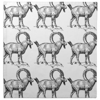 curl horn ibex napkin