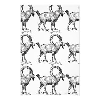 curl horn ibex stationery
