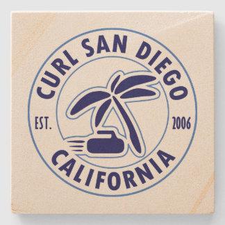 Curl San Diego Stone Coaster