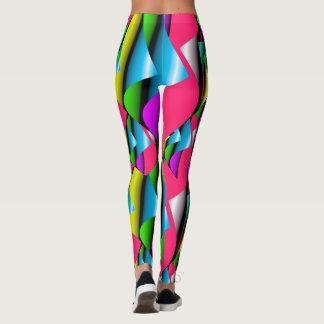 Curled Fabric ILLUSION Pop Fashion Leggings