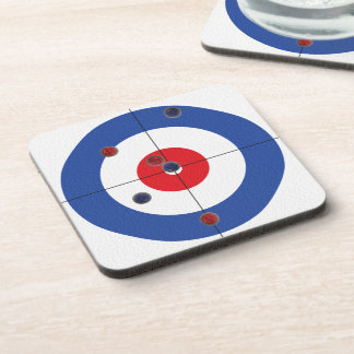 Curler's Drink Coasters - (Blue)