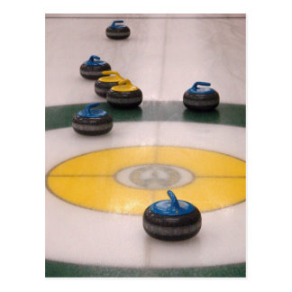 Curling action postcard