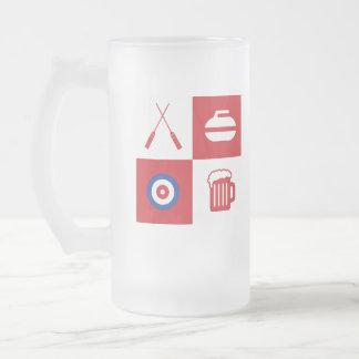 Curling beer mug