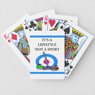 curling bicycle playing cards