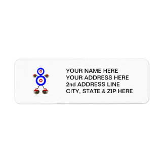 Curling Cartoon Return Address Label