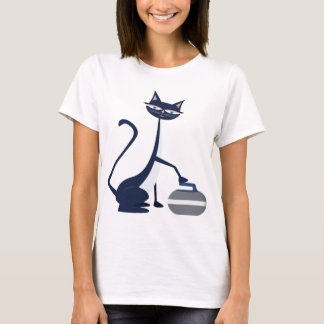 Curling cat T-Shirt