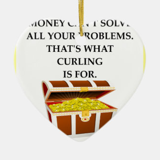 CURLING CERAMIC HEART ORNAMENT