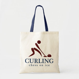 Curling: Chess on Ice Tote Bags