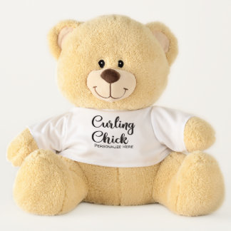 Curling Chick Teddy Bear