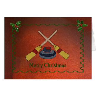 Curling Christmas Card