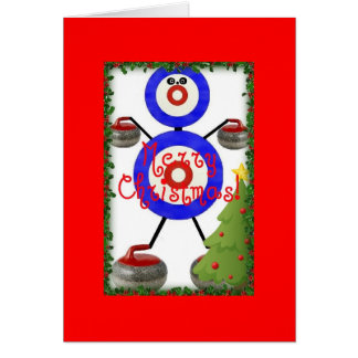 Curling Christmas Cartoon Card