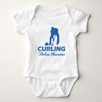 curling design baby bodysuit