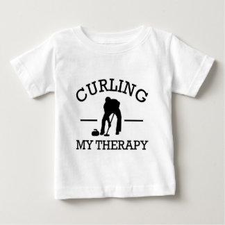 curling design baby T-Shirt