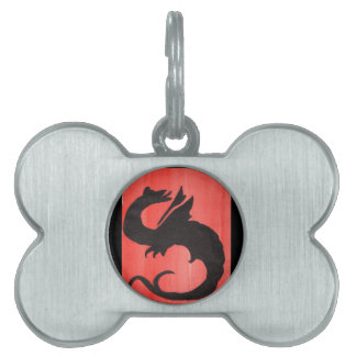 Curling Dragon Pet Name Tags