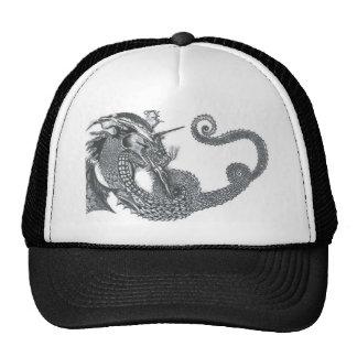 Curling Dragon Trucker Hat